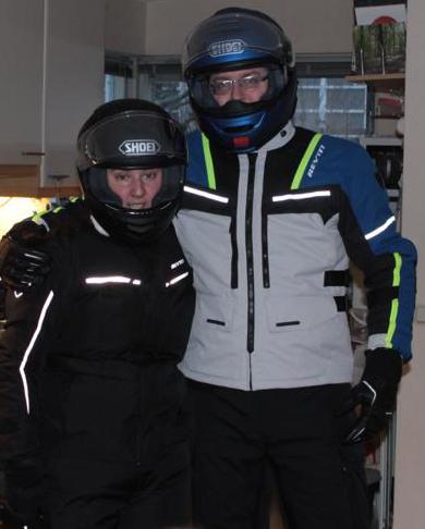 Gert & Bianca in hun nieuwe Revít / Shoei outfit