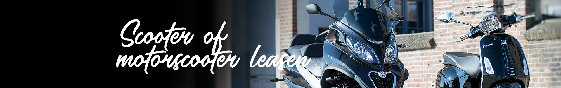 Scooter of motorscooter leasen