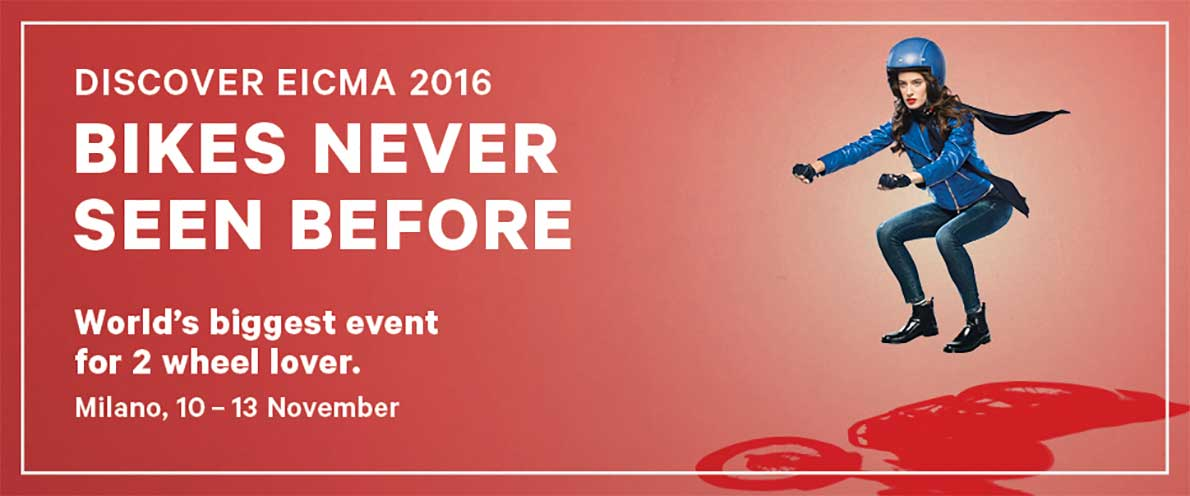 Eicma motorbeurs Milaan 2016