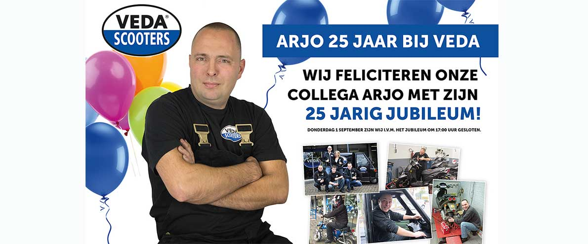 25 jarig jubileum Arjo