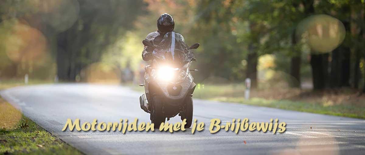 Motorrijden met je B-rijbewijs / autorijbewijs