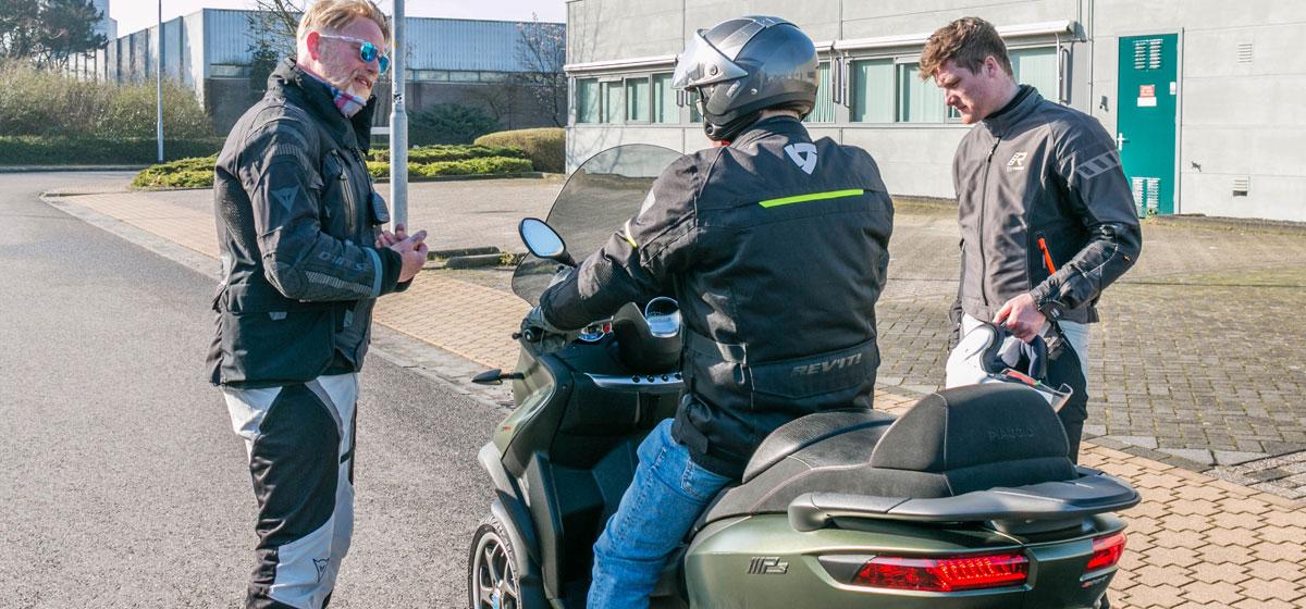 Testdag Piaggio MP3 / motor, (motor) scooter
