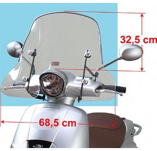 Peugeot Django windscherm laag