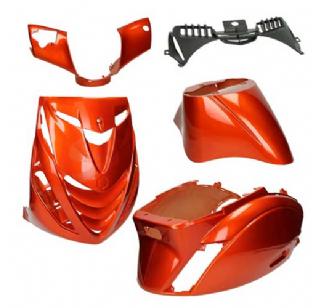 Piaggio Zip SP plaatwerkset glans oranje 5 delig