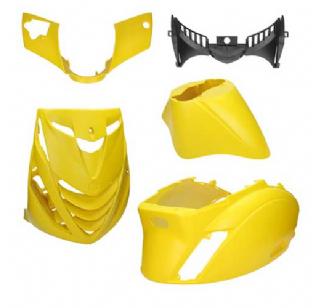 Piaggio Zip SP plaatwerkset mat geel 5 delig